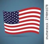 america flag icon | Shutterstock .eps vector #274841078