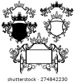 crown and bow decorated shields ... | Shutterstock . vector #274842230