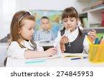 portrait of two little girls... | Shutterstock . vector #274845953