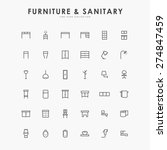 furniture and sanitary minimal... | Shutterstock .eps vector #274847459