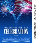 american independence day... | Shutterstock .eps vector #274847549