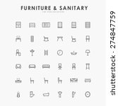 furniture and sanitary minimal... | Shutterstock .eps vector #274847759