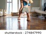 mother and little boy playful... | Shutterstock . vector #274847990