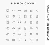 electronic minimal line icons | Shutterstock .eps vector #274849403