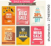 collection of stylish mega sale ... | Shutterstock .eps vector #274850900