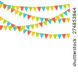 multicolored bright buntings... | Shutterstock .eps vector #274853864