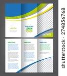 vector empty tri fold brochure...   Shutterstock .eps vector #274856768