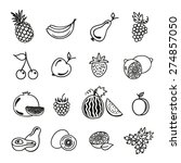 fruits and berries icons on... | Shutterstock .eps vector #274857050