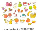 vector fruits set. vector... | Shutterstock .eps vector #274857488