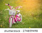 Pink Bike For Children In A...