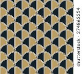 seamless art deco half circle... | Shutterstock .eps vector #274863254