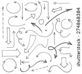 hand drawn arrows set. vector... | Shutterstock .eps vector #274868384