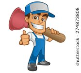 sympathetic plumber  wearing a... | Shutterstock .eps vector #274873808