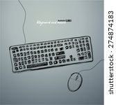 keyboard and mouse | Shutterstock .eps vector #274874183