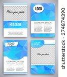 abstract big set of aqua... | Shutterstock .eps vector #274874390