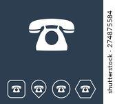 telephone icon on flat ui...