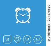 alarm clock icon on flat ui...