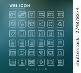 36 web line icons with blur... | Shutterstock .eps vector #274878374