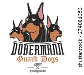 Dobermann Dog Vector...