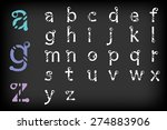 modern alphabetic fonts set... | Shutterstock .eps vector #274883906