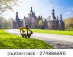 fairytale castles of belgium... | Shutterstock . vector #274886690