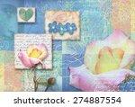 Blue Postcard Flower....