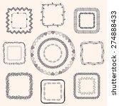 decorative black hand sketched... | Shutterstock . vector #274888433