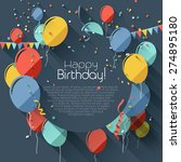 birthday greeting card with... | Shutterstock .eps vector #274895180