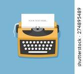 retro typewriter vector... | Shutterstock .eps vector #274895489