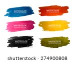 vector watercolor set | Shutterstock .eps vector #274900808