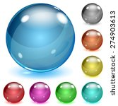set of multicolored opaque... | Shutterstock . vector #274903613