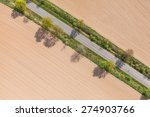 aerial view of village road and ... | Shutterstock . vector #274903766