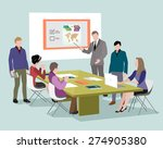 people talking and working at... | Shutterstock .eps vector #274905380
