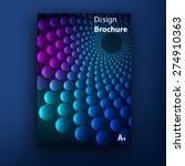 vector brochure   booklet cover ... | Shutterstock .eps vector #274910363