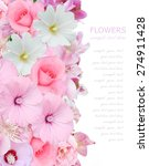 flowers background with roses... | Shutterstock . vector #274911428