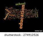 vector concept or conceptual... | Shutterstock .eps vector #274912526
