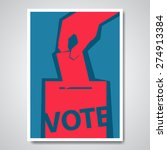 vector vote election cover... | Shutterstock .eps vector #274913384