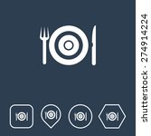 restaurant icon on flat ui...