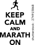 keep calm and marathon | Shutterstock .eps vector #274915868