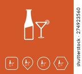 wine glass   bottle icon on...