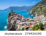 panorama view of vernazza... | Shutterstock . vector #274924190