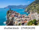 panorama view of vernazza...   Shutterstock . vector #274924190