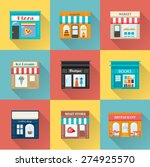 different shops and stores... | Shutterstock .eps vector #274925570
