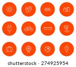 summer icons.set 1.vector | Shutterstock .eps vector #274925954