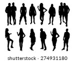 woman and man silhouettes design | Shutterstock .eps vector #274931180