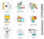 flat line icons set of  design  ... | Shutterstock .eps vector #274933898