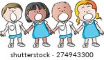 girls and boys | Shutterstock .eps vector #274943300