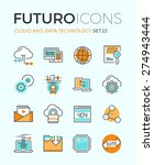 line icons with flat design... | Shutterstock .eps vector #274943444