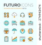 line icons with flat design... | Shutterstock .eps vector #274943474