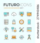 line icons with flat design... | Shutterstock .eps vector #274943486